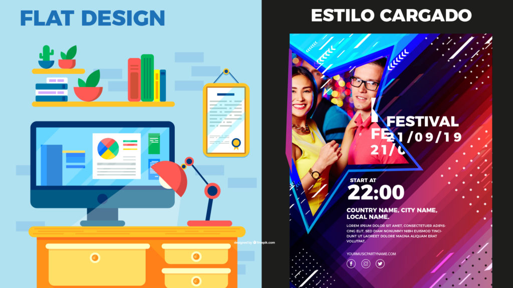 Flatdesign vs degradado