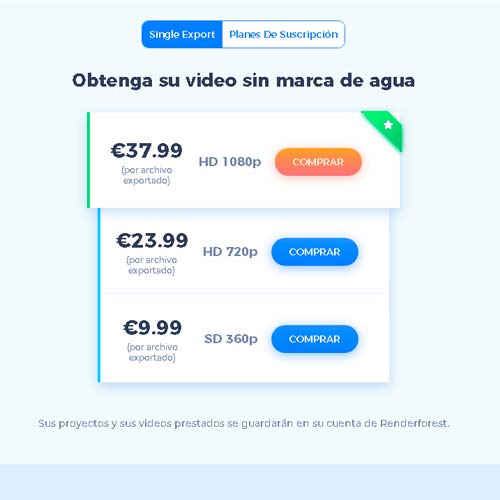 Plan de pago por video